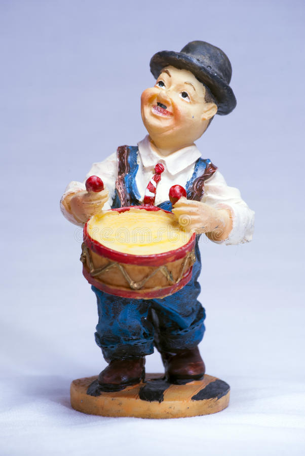 Download Charlie Chaplin Musician Souvenir With Drum Stock Photo - Image: 83709826