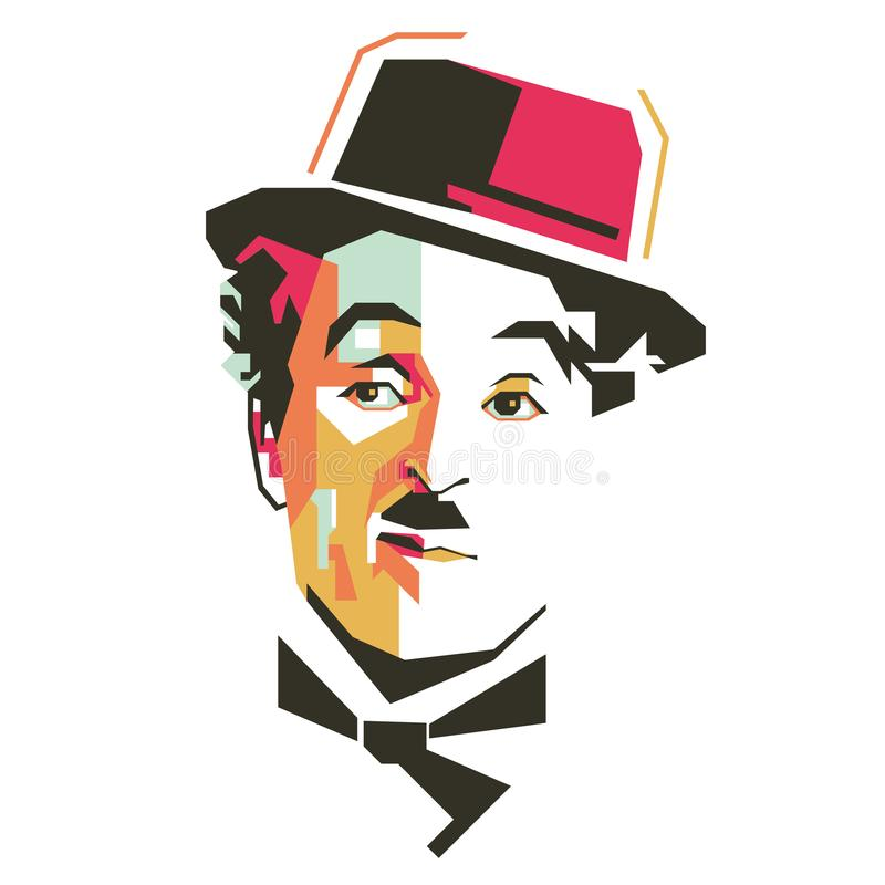 Charlie Chaplin/eps editorial stock image. Illustration of ...