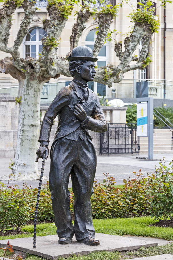 Charlie Chaplin statua obraz royalty free