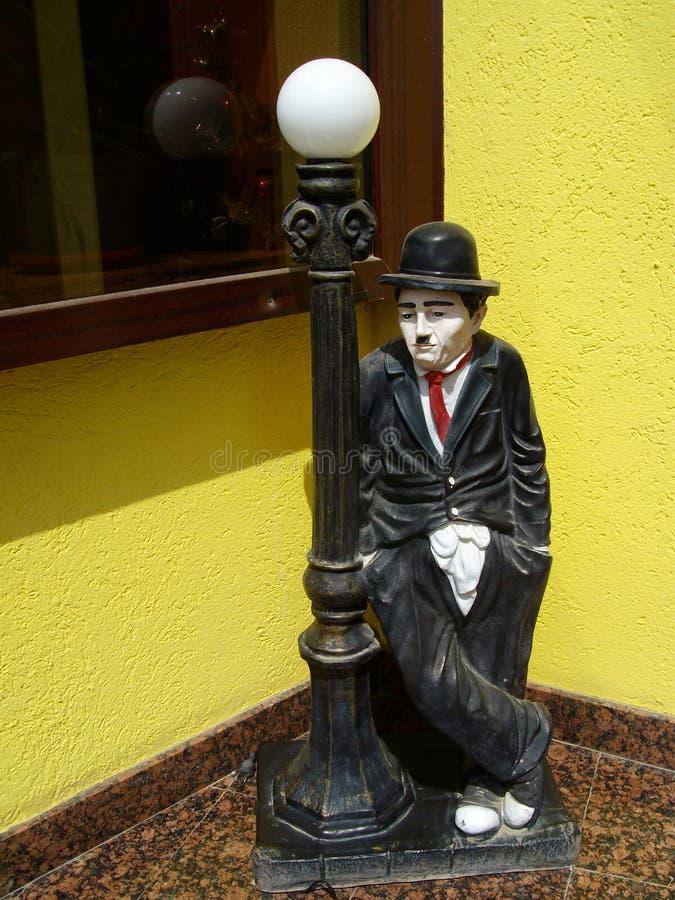 Charlie Chaplin staty royaltyfri foto