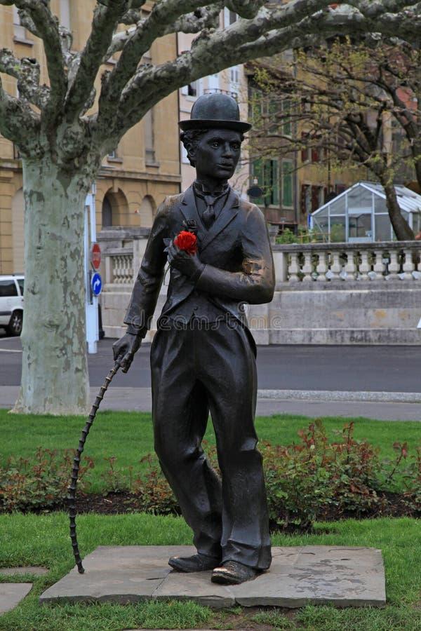 Charlie Chaplin, Vevey, Suiza imagen de archivo libre de regalías