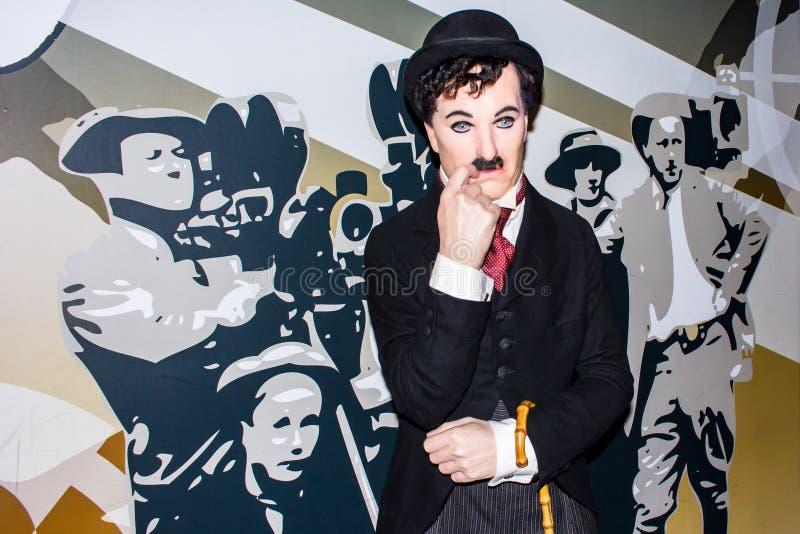 Charlie Chaplin - wosk postać, Amsterdam zdjęcia stock