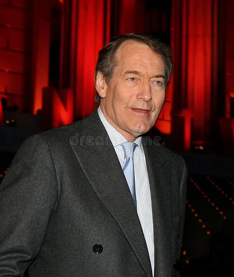 Charlie Rose. Former tv anchor and television host and broadcaster, Charlie Rose, is seen in happier days, as he arrives at the Vanity Fair party saluting the royalty free stock photography