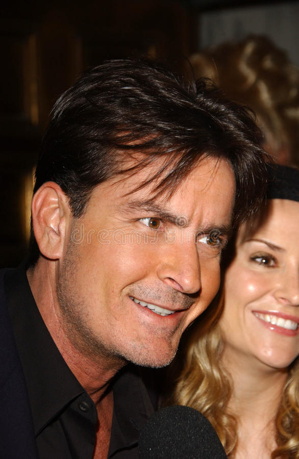 Charlie Sheen. And Brooke Allen at the 5th Annual Best In Drag Show, Fundraiser for Aid for AIDS. Orpheum Theatre, Los Angeles, CA. 10-14-07 stock photos