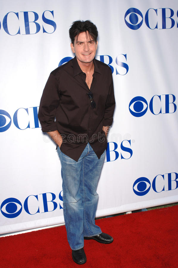 Charlie Sheen. At the CBS Summer Press Tour Stars Party 2007 on the Wadsworth Theatre Great Lawn. July 20, 2007 Los Angeles, CA Picture: Paul Smith / stock image