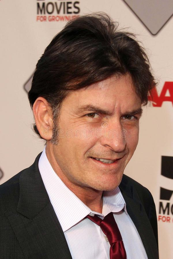 Charlie Sheen. At the AARP Movies For Grownups Premiere of The Way, Nokia Theater, Los Angeles, CA 09-23-11 stock photography