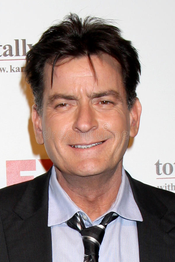 Charlie Sheen arrives at the FX Summer Comedies Party stock photography