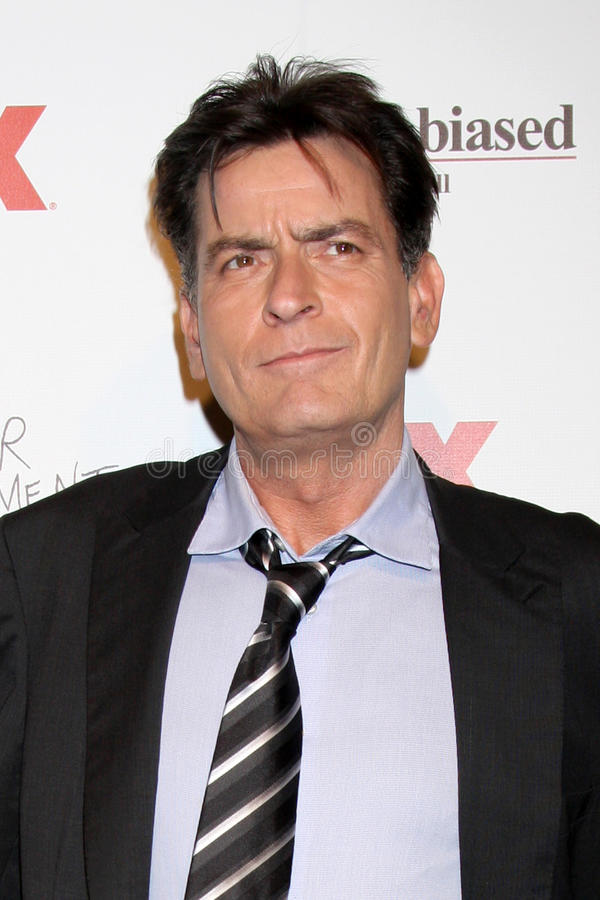 Charlie Sheen arrives at the FX Summer Comedies Party stock images