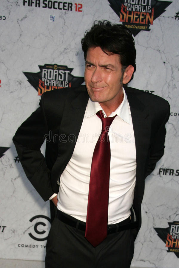 Charlie Sheen. At Comedy Central's Roast Of , Sony Studios, Culver City, CA. 09-10-11 royalty free stock images