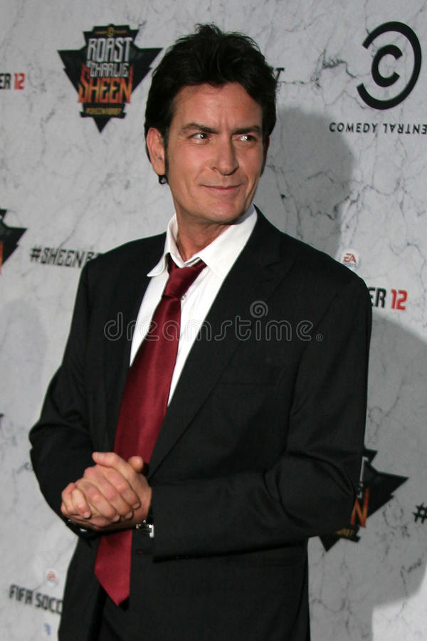 Charlie Sheen. At Comedy Central's Roast Of , Sony Studios, Culver City, CA. 09-10-11 stock images
