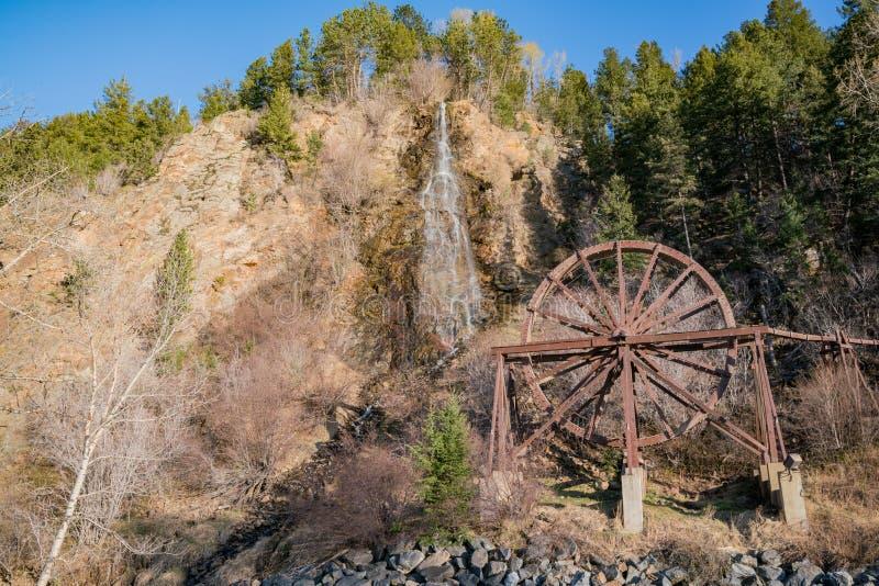Charlie Tayler Water Wheel på Idaho vårar arkivfoto