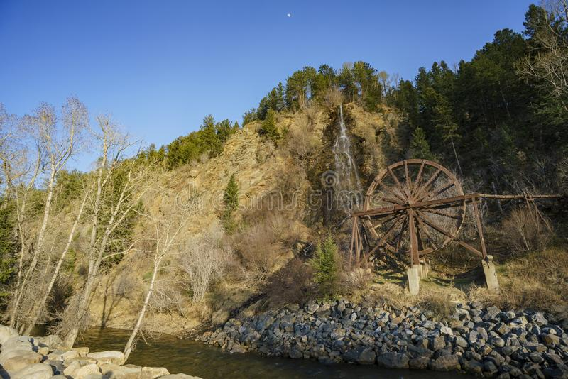 Charlie Tayler Water Wheel på Idaho vårar arkivfoton