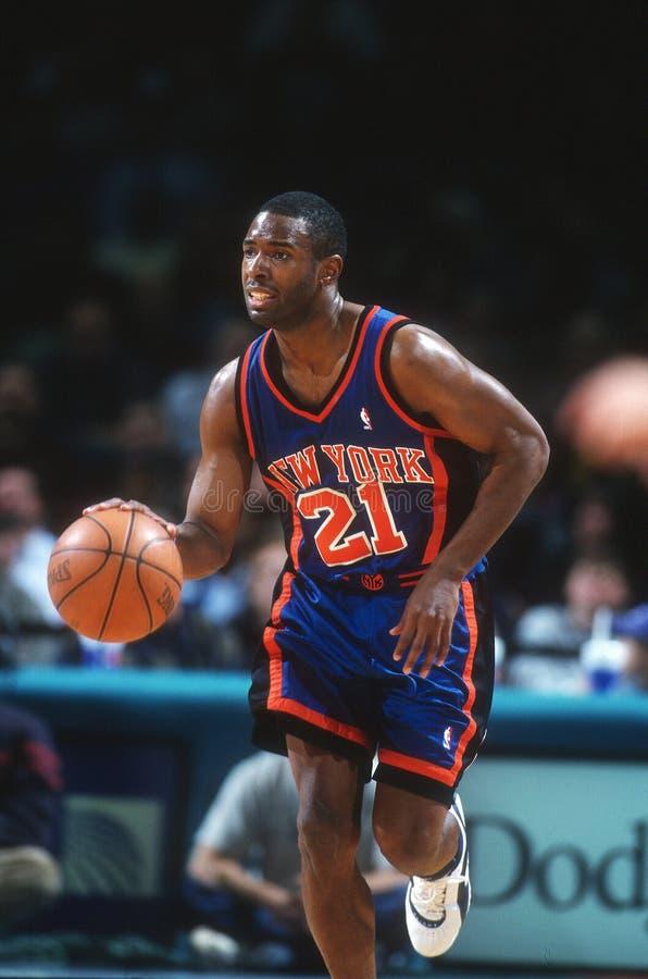 Charlie Ward New York Knicks foto de archivo
