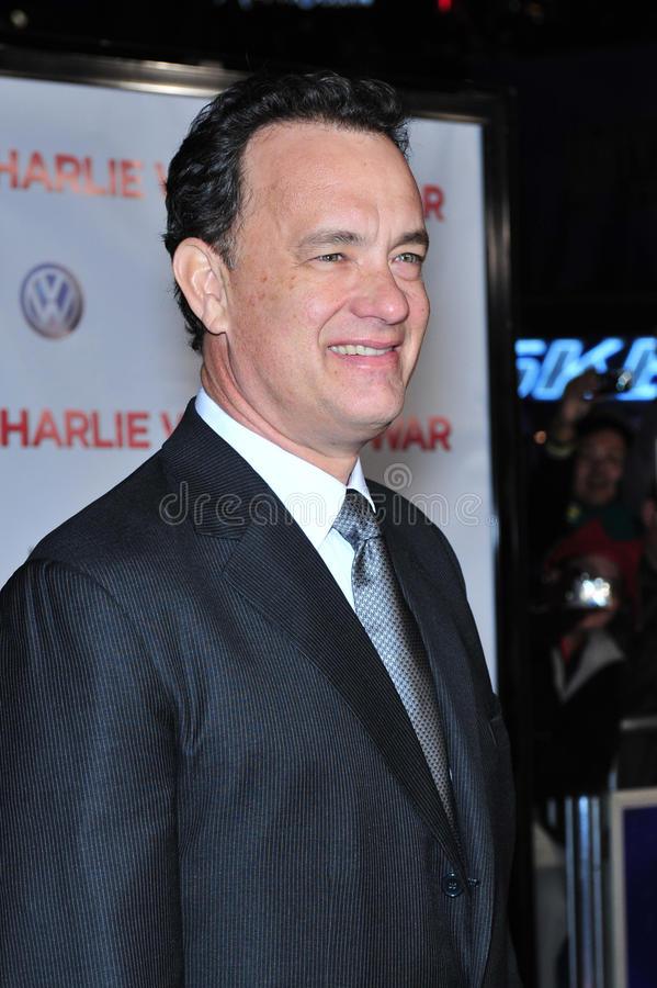 Charlie Wilson, Tom Hanks foto de stock