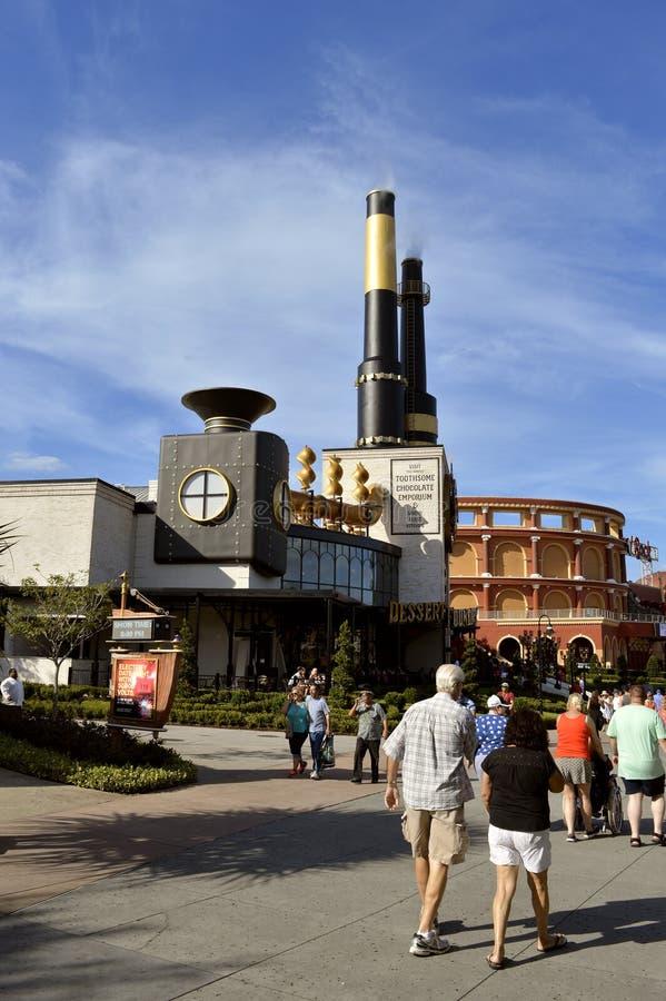 Charlies chokladEmporium i den universella Orlando Studios arkivbilder