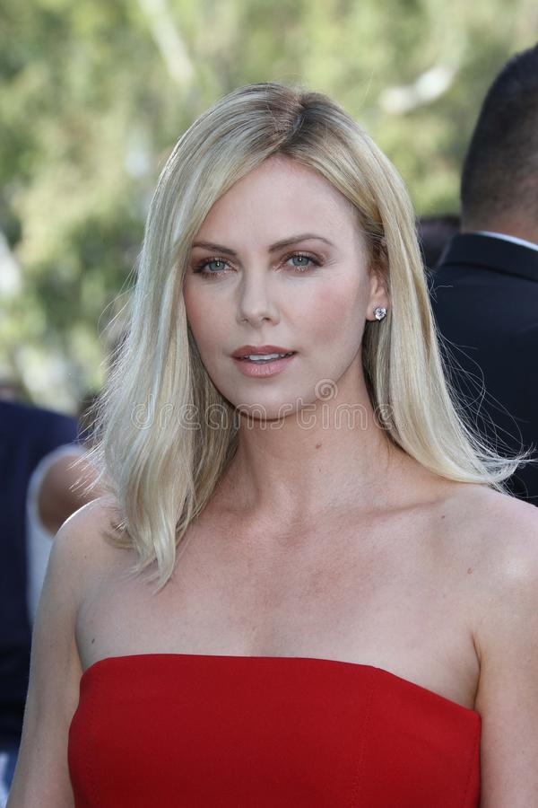 Charlize Theron at the 2012 MTV Movie Awards Arrivals, Gibson Amphitheater, Universal City, CA 06-03-12 royalty free stock image