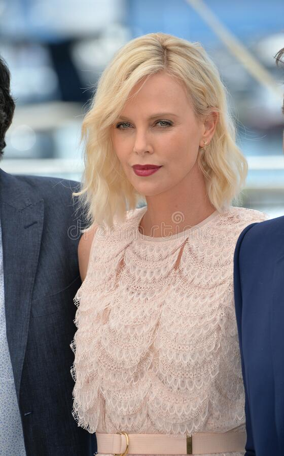 Charlize Theron. CANNES, FRANCE - MAY 20, 2016: Actress Charlize Theron at the photocall for The Last Face at the 69th Festival de Cannes stock photos