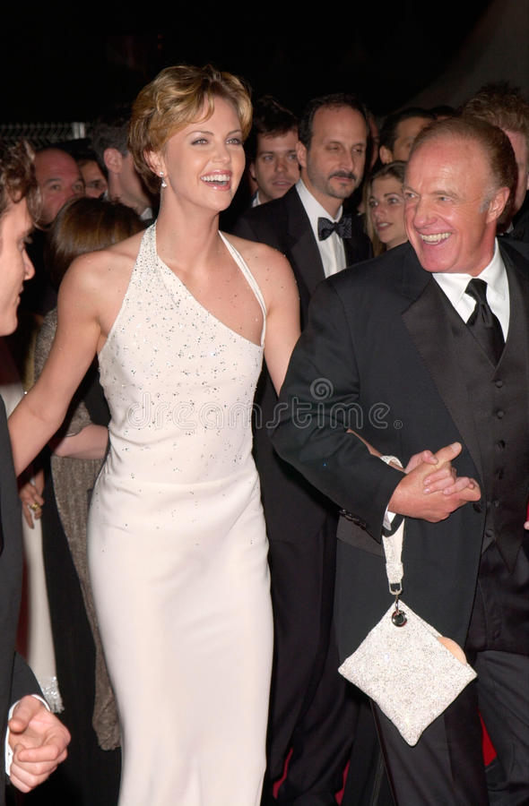 Charlize Theron, James Caan zdjęcie stock