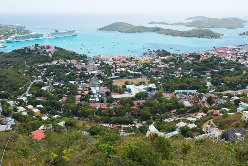 Charlotte Amalie immagine stock libera da diritti