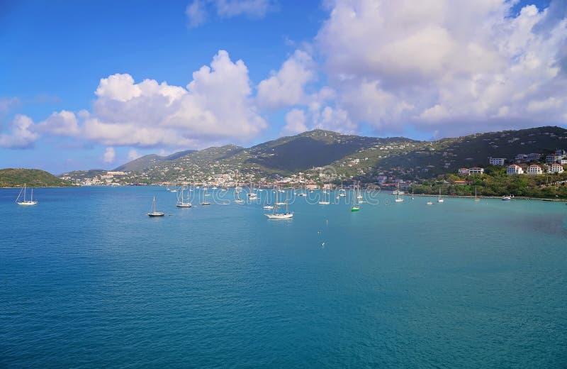 Charlotte Amalie Bay immagini stock libere da diritti