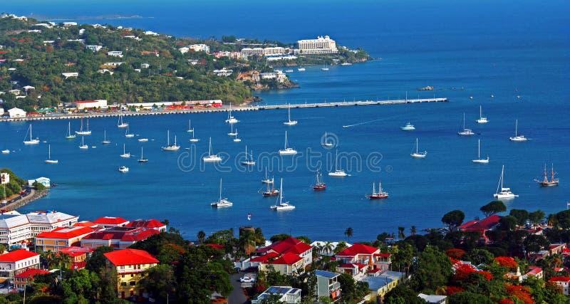 Charlotte Amalie Harbor royalty-vrije stock foto's