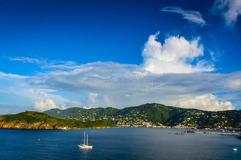 Charlotte Amalie Harbor - St Thomas, USVI royalty-vrije stock foto's