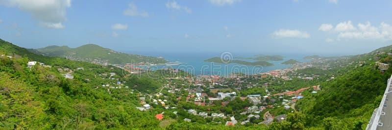 Charlotte Amalie helgon Thomas Island, USA Jungfruöarna royaltyfria foton