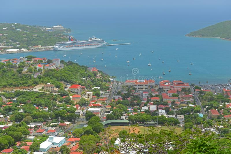 Charlotte Amalie helgon Thomas Island, USA Jungfru?arna royaltyfria foton
