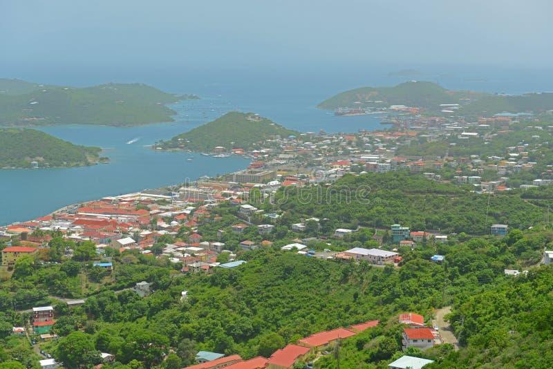 Charlotte Amalie helgon Thomas Island, USA Jungfru?arna royaltyfria bilder