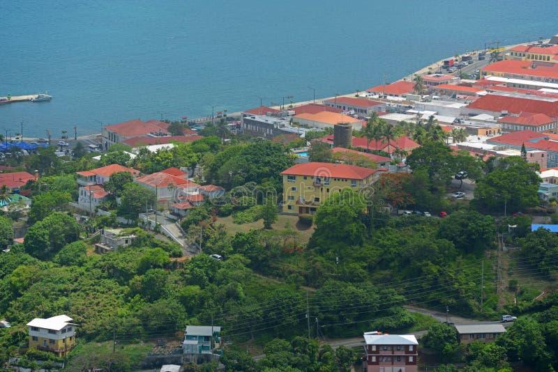 Charlotte Amalie helgon Thomas Island, USA Jungfru?arna arkivfoto