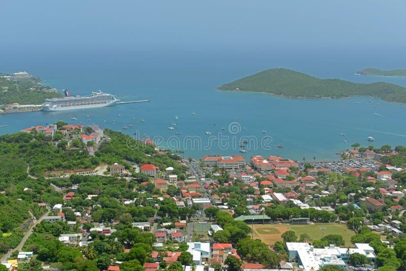 Charlotte Amalie helgon Thomas Island, USA Jungfru?arna royaltyfri fotografi