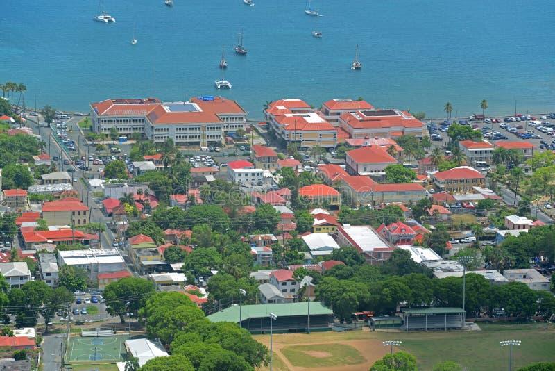 Charlotte Amalie helgon Thomas Island, USA Jungfru?arna fotografering för bildbyråer