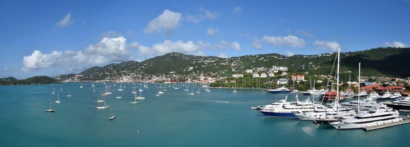 Charlotte Amalie, US Virgin Islands. Aerial panoramic view of Charlotte Amalie, Saint Thomas, US Virgin ISlands royalty free stock photography