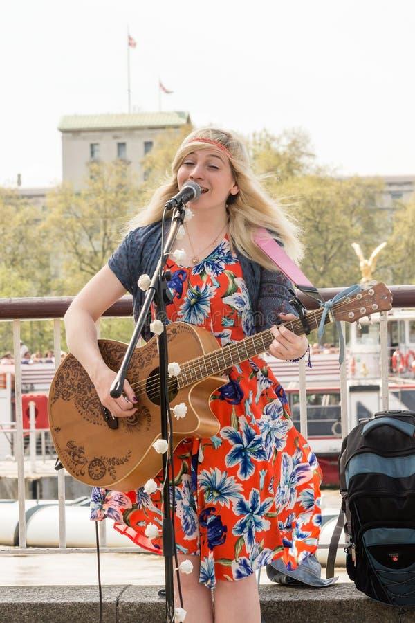 Charlotte Campbell Singer Songwriter fotografie stock