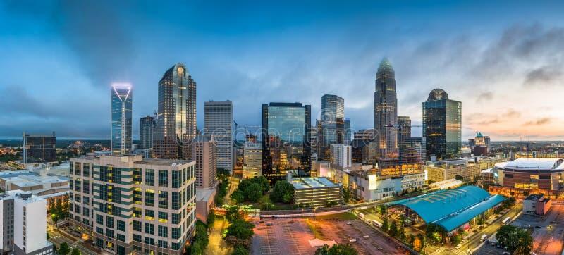 Charlotte, Carolina Cityscape del norte fotos de archivo