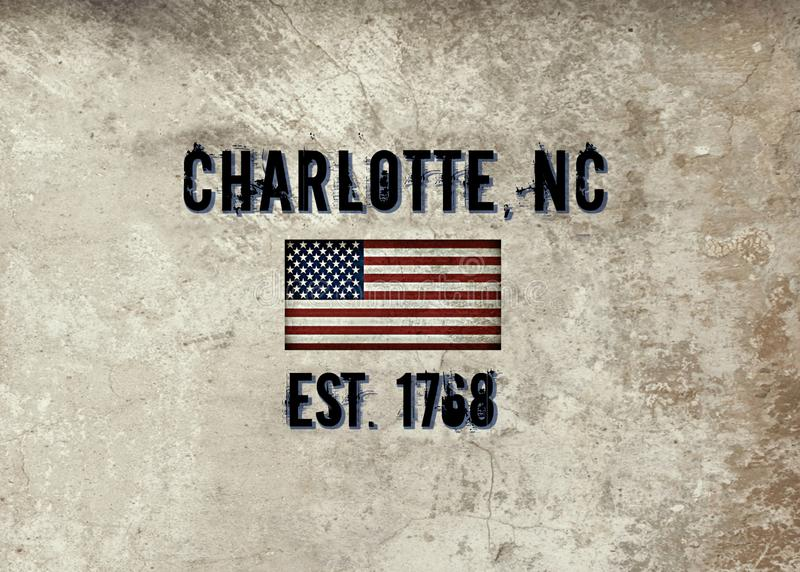Charlotte, Carolina del Norte stock de ilustración