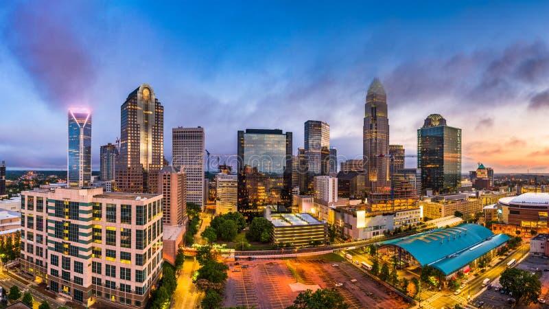 Charlotte, Carolina Skyline del norte fotos de archivo