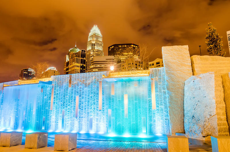 Charlotte city skyline royalty free stock images