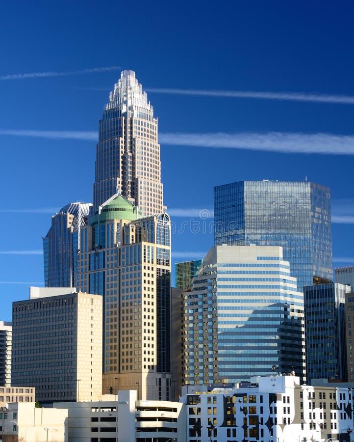 Charlotte da parte alta da cidade foto de stock