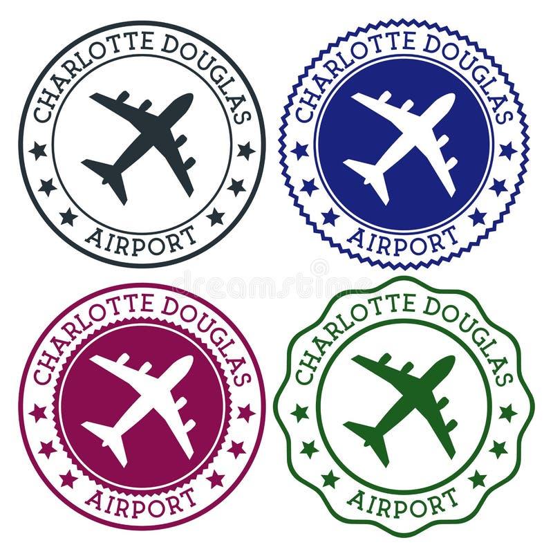 Charlotte Douglas Airport stock de ilustración