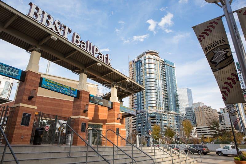 Charlotte Knights Ballpark immagini stock libere da diritti