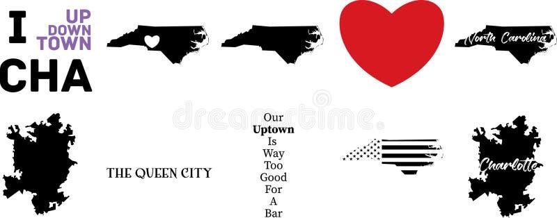 Charlotte la Caroline du Nord illustration stock