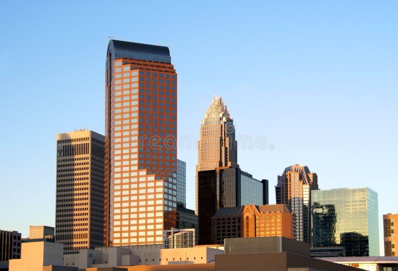 Charlotte, NC, horizonte fotos de archivo