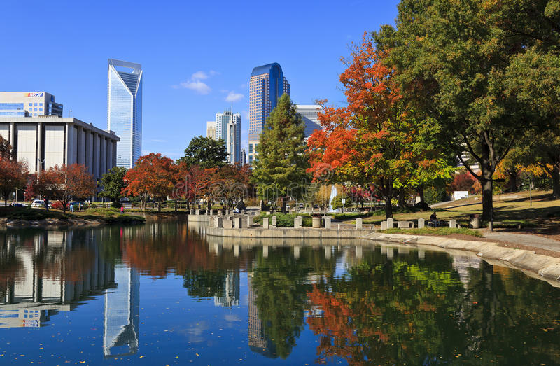 Charlotte North Carolina fotografia stock
