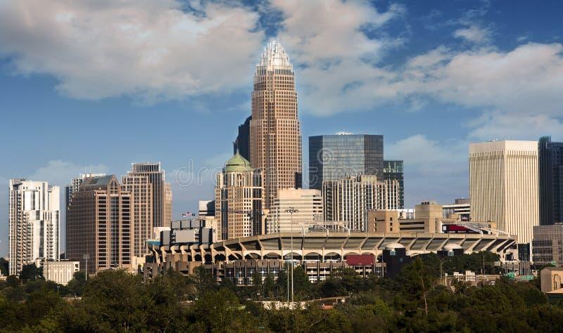 Charlotte North Carolina Skyline arkivfoton