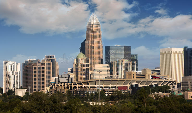 Charlotte North Carolina Skyline stock photos