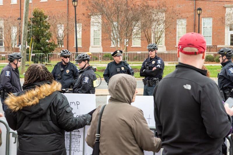 Trump Demonstration in Charlotte, North Carolina - February 7, 2020 royalty free stock photos