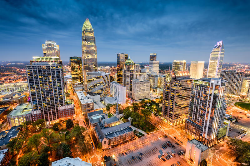 Charlotte Skyline photo stock