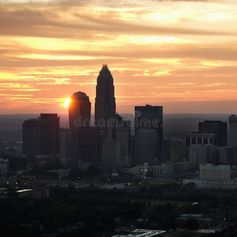 Charlotte, skyline do NC. foto de stock royalty free