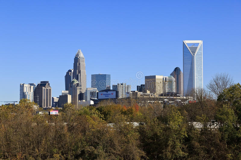 Download Charlotte Skyline editorial photo. Image of modern, financial - 56977086